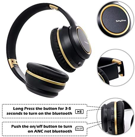 Noise Cancelling Headphones Wireless Bluetooth 5.0, Over-Ear Srhythm NC15 Headset With Microphones For Online Class/Home Office/TV/PC/Cell Phone-Low Latency
