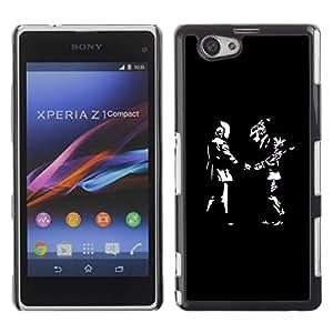 Be Good Phone Accessory // Dura Cáscara cubierta Protectora Caso Carcasa Funda de Protección para Sony Xperia Z1 Compact D5503 // Daft Guys