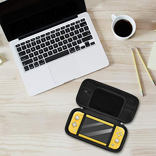 Accessories Kit for Nintendo Switch Lite, Bundle with Carrying Case, TPU Protective Cover, Screen Protector and Thumb Grips for Switch Lite 2019, Coral