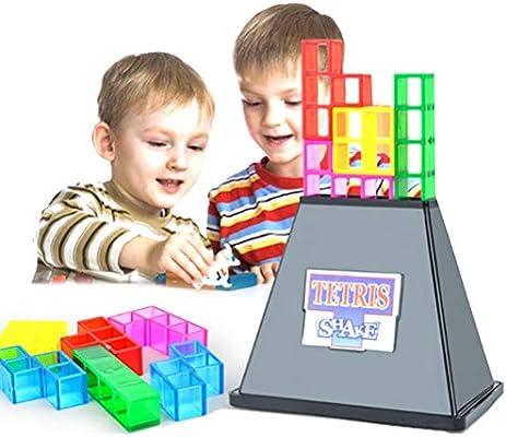 Deeabo Bloques De Construcción, Tetris Shake Stacking 3d Building Blocks Educación Temprana Puzzle Educación Temprana Juegos Mesa Juguetes, Tetris Vibration Stacking Juguetes Construcción Para Niños: Amazon.es: Bricolaje y herramientas
