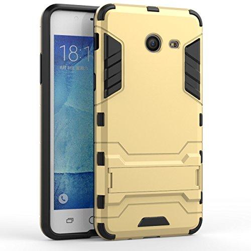 Galaxy J5(2017) Coque,EVERGREENBUYING Ultra Slim l¨¦ger 2 en 1 SM-J530F Cases Housse Etui Premium Kickstand Bumper Hard Shell Back Coque Case Pour Samsung GALAXY J5 (2017) Or