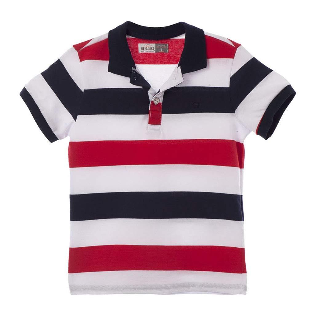 Galleon - OFFCORSS Cotton Polo Shirts For Teen Boys Camisetas Tipo Polo De  Niño Black 12 fa9c6d3507378