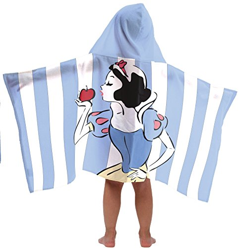 Disney Princess Snow White Super Soft & Absorbent Kids Hooded Bath/Pool/Beach Towel, Featuring Snow White - Fade Resistant Cotton Terry Towel, 22.5