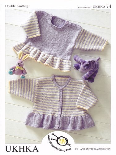 Baby Dk Double Knitting Pattern Long Sleeved Striped Frill Sweater