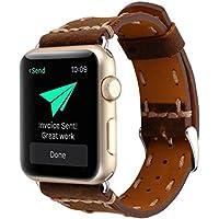 Wrist Watch Band, Winhurn Handcraft Leather Strap Belt for Apple Watch 38mm 2017 (brown)
