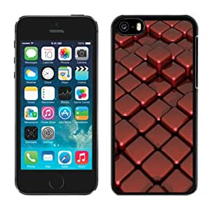 Beautiful Custom Designed Cover Case For iPhone 5C With 3D Red Cubes Phone Case Cover