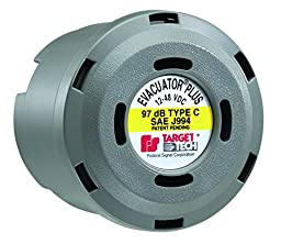 Federal Signal 210331SSG Evacuator Back-Up Alarm, Dual Tone Universal Mounting Bracket, 97 dB(A)