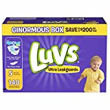 Health & Personal Care : Branded Luvs Ultra Leakguards Diapers Size 5, 140 ct. (diapers - Wholesale Price (Bulk Qty at Whoesale Price, Genuine & Soft Baby diaper)
