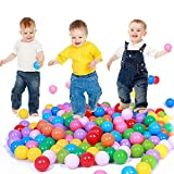 Addision 100 pcs Colorful Ball Fun Ball Soft Plastic Ocean Ball Baby Kid Toy Swim Pit Toy