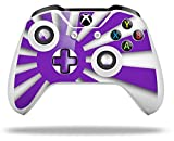 Rising Sun Japanese Flag Purple - Decal Style Skin fits Microsoft XBOX One S and One X Wireless Controller