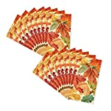 Fall Elegant Leaves Pattern Paper Guest Towels Napkins - 32 Count