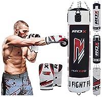 RDX Boxen MMA Sack 4FT 5FT Boxsack Set Kickboxen Sandsack Training Gefüllt...