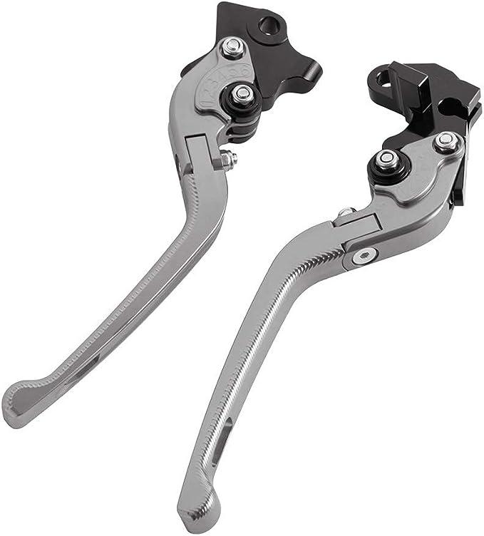 Cnc Aluminium 3d Verstellbarer Bremsgriff Klappbarer Motorrad Kupplungshebel Für Yamaha Wr 125x 2011 2015 Grau Auto