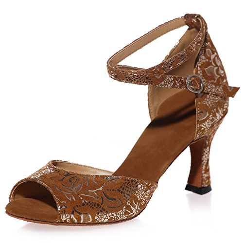 5 Pie Mujeres Baile Zapatos SatéN En 34 Elobaby Partido De Dedo De Prom Las Cm TalóN 7 42 del Jazz TamañO De del del del del Plataforma Brown EqSdawX