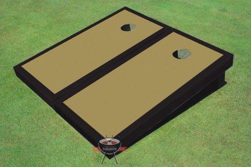 ダークゴールドとブラックMatching Border Corn穴ボードCornhole B00CMDN6FO Set Game Set Border B00CMDN6FO, 中古 スーツケース エリアサイクル:48ec2729 --- gamenavi.club