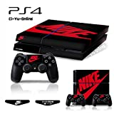 Ci-Yu-Online VINYL SKIN [PS4] Whole Body VINYL SKIN STICKER DECAL COVER Nike Air Jordan 1 Retro Black Red Logo Shoe Box for PS4 Playstation 4 System Console and Controllers For Sale