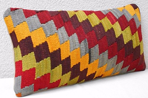 Kelim Kissen handarbeit 25x50cm Kilim Cushion Orient Pilow K