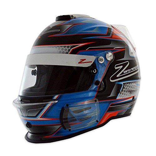 Zamp Racing Helmet - Zamp Men's Full-Face-Helmet-Style RZ-42 Helmet Graphic (Blue, Large)