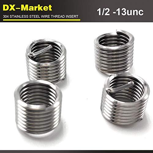 Ochoos 1/2-13unc x1.5D, 50pcs, 304 Stainless Steel 1/2 UNC Thread Inserts, sus304 Wire Thread Repair Fasteners by Ochoos