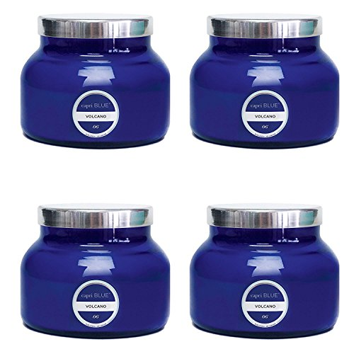 (Capri Blue, Signature Collection Blue Jar Candle - Volcano - 19 Ounce, 4 Pack)
