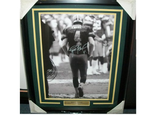 Signed Brett Favre Picture - Coa Tunnel Framed 16x20 - Autographed NFL Photos