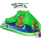Blast Zone Crocodile Isle Inflatable water Park with Dual Slides