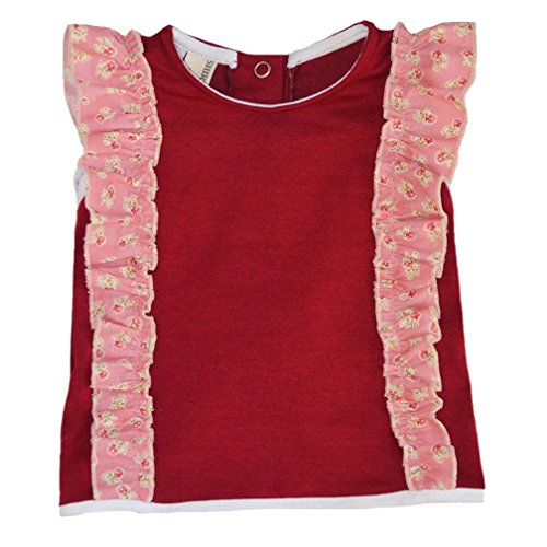 Shirley & Victor by Majamas Baby Girl Elsa Top - Syrah Red/Rosie - 0-6 ()