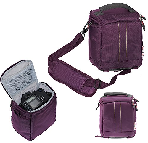 Navitech Purple DSLR & Lens Camera Bag Case Compatible With The Sony Alpha ILCE-7