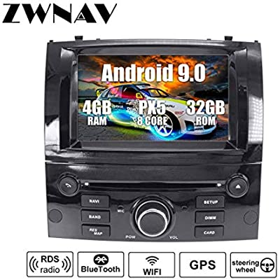 ZWNAV Andriod 9 0 Car Stereo Sat Nav GPS Navigation For PEUGEOT 407 2004-2010  RAM 32G ROM  Support Europe Country Mapping DVD DAB  WIFI Touch Screen  Steering Wheel Control