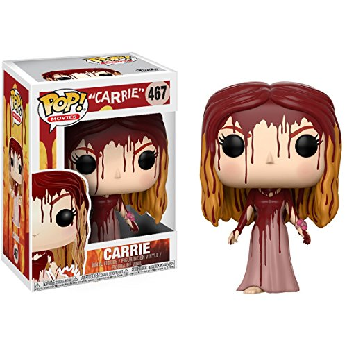 Monster Miss Figure Vinyl - Funko Carrie White POP! Movies x Carrie Vinyl Figure + 1 Classic Horror & Sci-fi Movies Trading Card Bundle (20115)