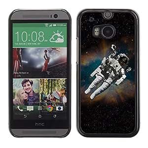 Stuss Case / Funda Carcasa protectora - Cosmonaut Astronaut Skeleton Art Space Travel - HTC One M8