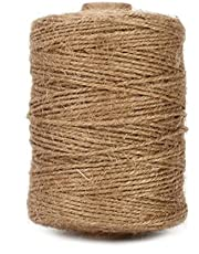 Tenn Well Natural Jute Twine, 500 Feet 3Ply Arts and Crafts Jute Rope Packing String for Gifts, DIY Crafts, Festive Decoration, Bundling, Gardening and Recycling