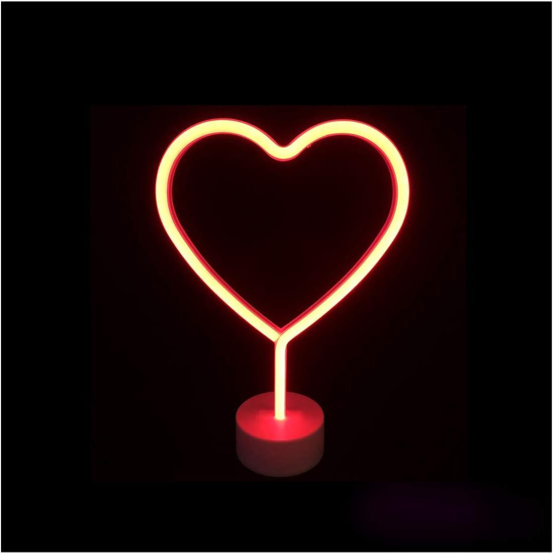 discoteca o gastronomia bar colore rosso brillante classica decorazione al neon BLINXS compleanno o come luce datmosfera per feste Luce al neon a LED a forma di cuore