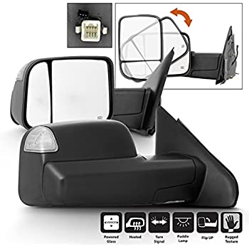 Tow Towing Mirrors Fit 02-07 08 Dodge Ram 1500 2500 3500 Heated+Turn Signal