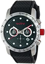 red line Men's RL-50044-01-BK Velocity Black Textured Dial Black Silicone Watch