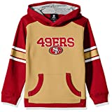 "NFL Youth Boys ""Allegiance"" Pullover Hoodie-Tan-M(10-12), San Francisco 49ers"