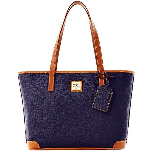 Pebble Leather Shopper (Dooney & Bourke Pebble Leather Charleston Shopper Midnight Blue)
