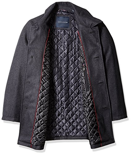 Tommy Hilfiger Men's Big Wool Melton Walking Coat with Detachable Scarf, Charcoal, 3X-LARGE by Tommy Hilfiger (Image #2)