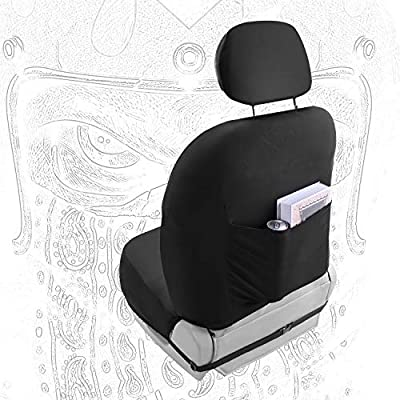 2 Car Front Seat Covers for Men, Skull Seat Covers Easy to Install Lowback Seat Covers: Automotive