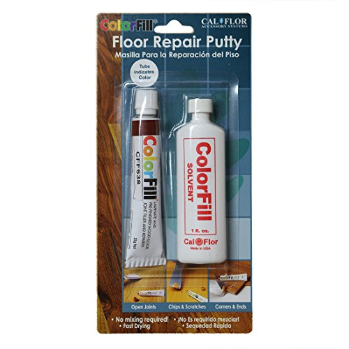 Cal-Flor BP42638 Color-Matched Repair Putty Blister Pack with Solvent, Brazilian - Brazilian Prefinished Cherry