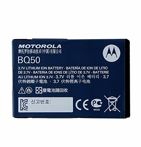 Motorola BQ50 Cell Phone Battery – Proprietary – Lithium Ion (Li-Ion) – 910mAh – 3.7V DC – Non Retail Packaging