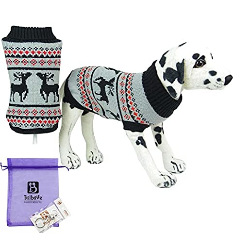 Bolbove Pet Christmas Themed Reindeer Turtleneck Sweater for Small Dogs & Cats Holiday Knitwear Cold Weather Outfit (XX-Large, (Themed Sweaters)