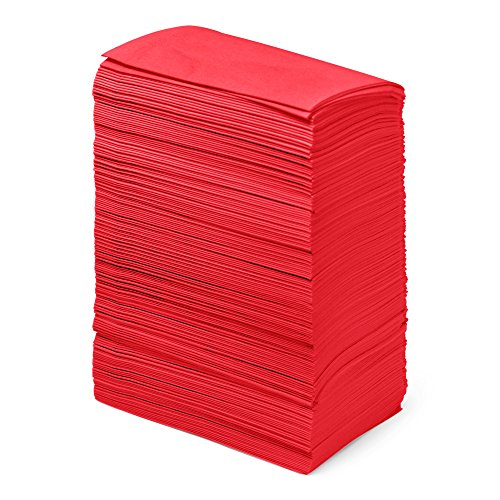Dinner Napkins Paper Bulk 2-Ply – 1000 Count – 15″ x 17″ – Red – Disposable – Embossed Pattern – Commercial or Business Use – Restaurants, Bars, Corporate, Catered Events, Party – Paterson Paper