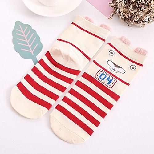 Cotton Socks Girls 6 Pack by K-LORRA (Image #1)