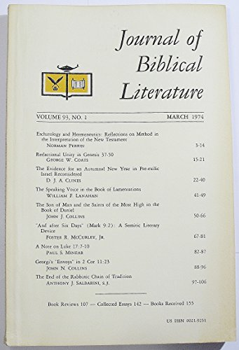 Journal of Biblical Literature, Volume 93 Number 1, December 1974