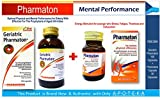 Pharmaton Mental Performance (Pack Size Geriatric Pharmaton 100 Capsules & Pharmaton Capsule 30 Capsules) Energy Stimulant for Younger Who Stress & Exhaustion + Prophylaxis of Aged Infirmities, Ageing Concentration Memory for Elderly