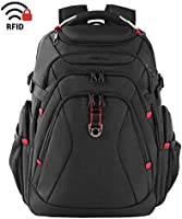KROSER Travel Laptop Backpack 17.3 Inch XL Heavy Duty Computer Backpack with USB Charging Port RFID Pockets...