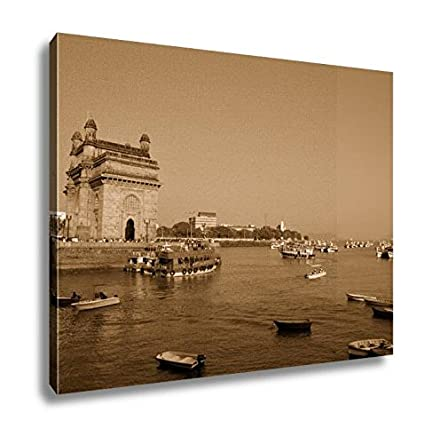 Ashley Canvas Gateway Of India, Kitchen Bedroom Living Room Art, Sepia  24x30, AG5933092