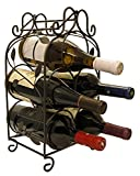 Rosabel 5 Bottle Metal Wine Rack for Tabletop or Countertop by KitchenEdge,...