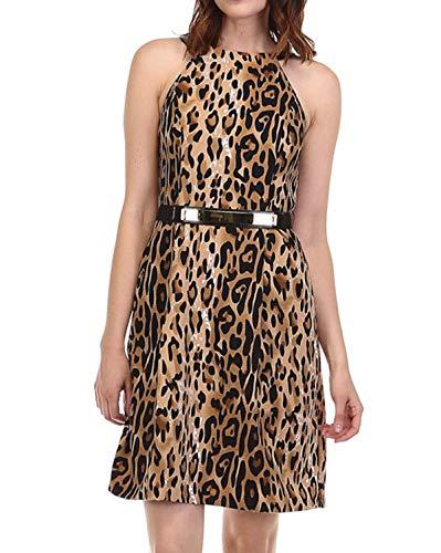 Leopard Print Maxi Dress - 5